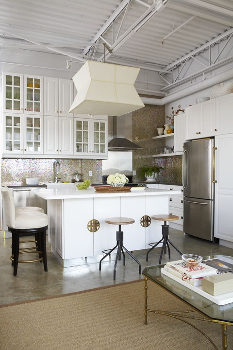 Elegant loft kitchen