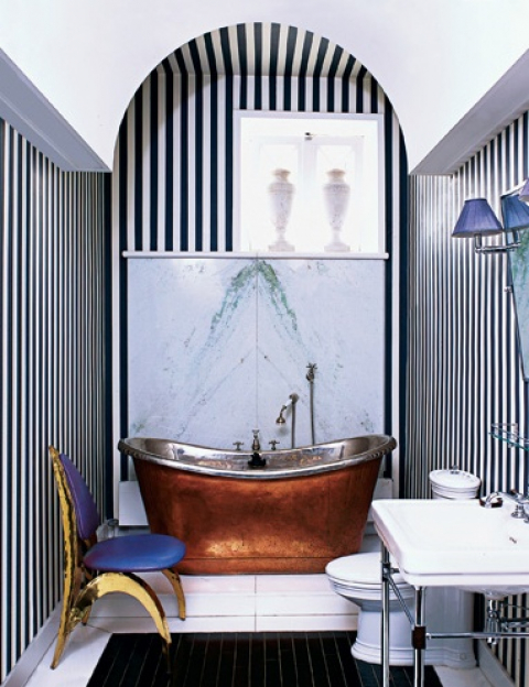 Bath - copper stand