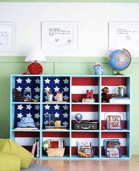 American flag shelve