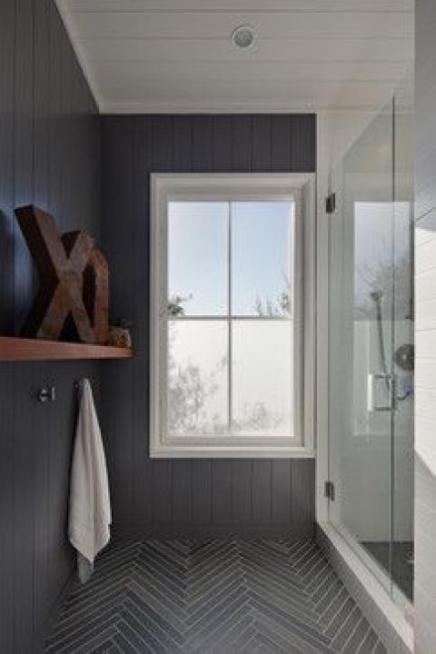 serene gray bathroom